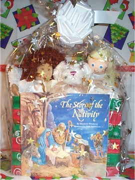 Angels Gift Basket Wrapped