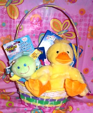 EBSMMDUCKOYBK Easter Mary Meyer Baby Duck  Basket