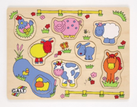 Baby Picture Frames Months on Our  Galt Baby Wooden Farm Puzzle For Ages 12 Months And Up