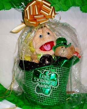 Saint Patrick's Day Irish Fairy Basket Wrapped