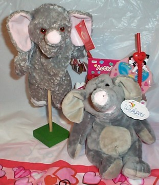 Softee Elephant Forget Me Not Gift Basket
