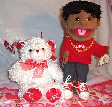 Big Mouth Puppet with Kiss Me Bear