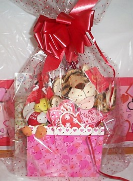 Wild About You, Softee Tiger Valentine Gift Basket